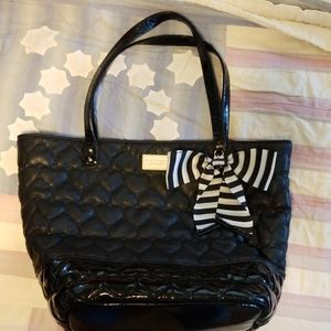 Betsey Johnson Quilted Hearts Tote